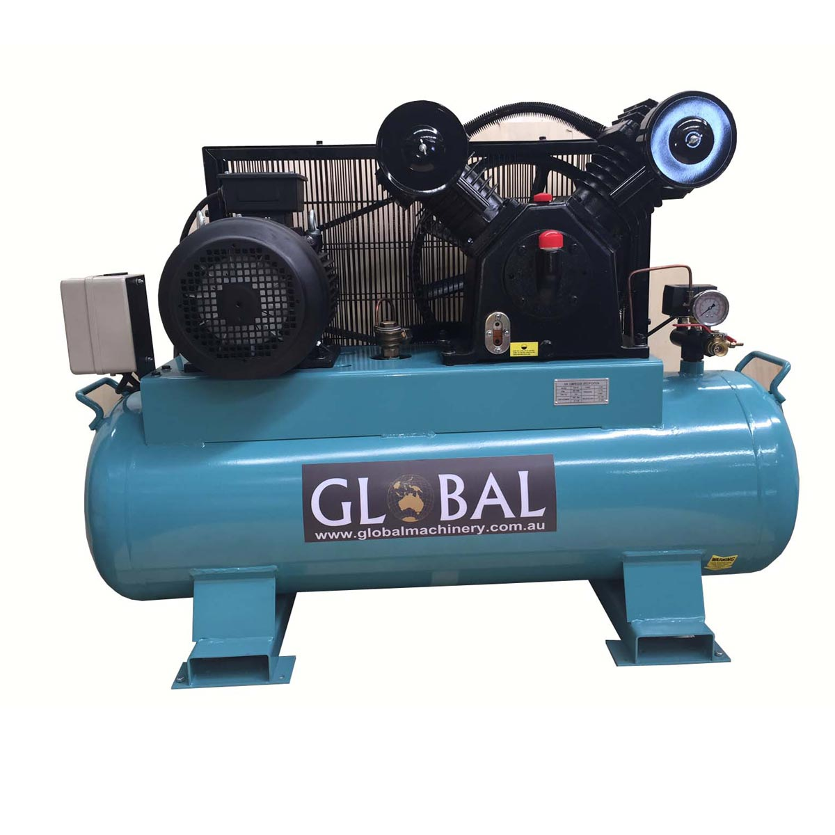 Electric 37cfm piston type air compressor with 160l tank for Piston type air motor