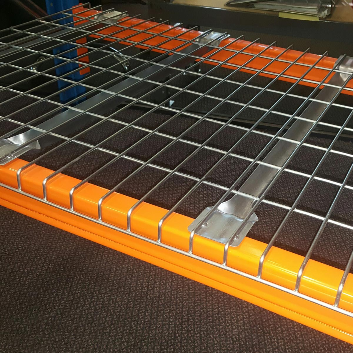 Mesh Deck for Pallet Racking - close up view.