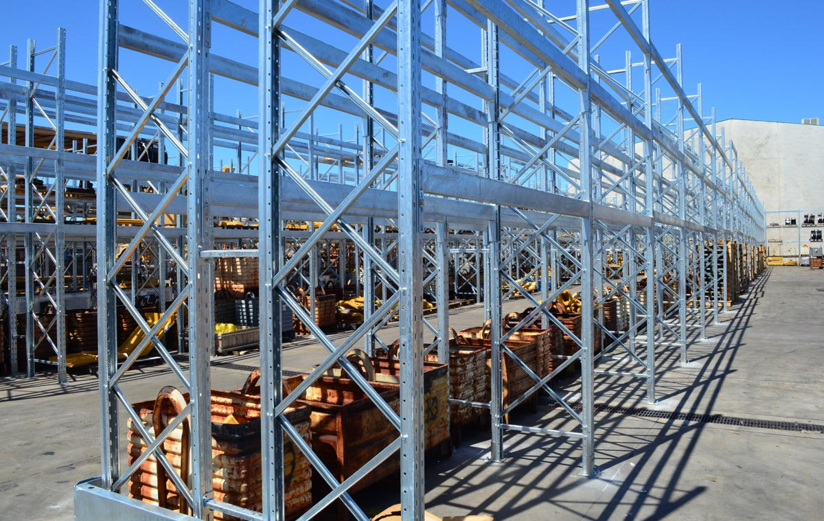 Selective Pallet Racking Example - Outdoor