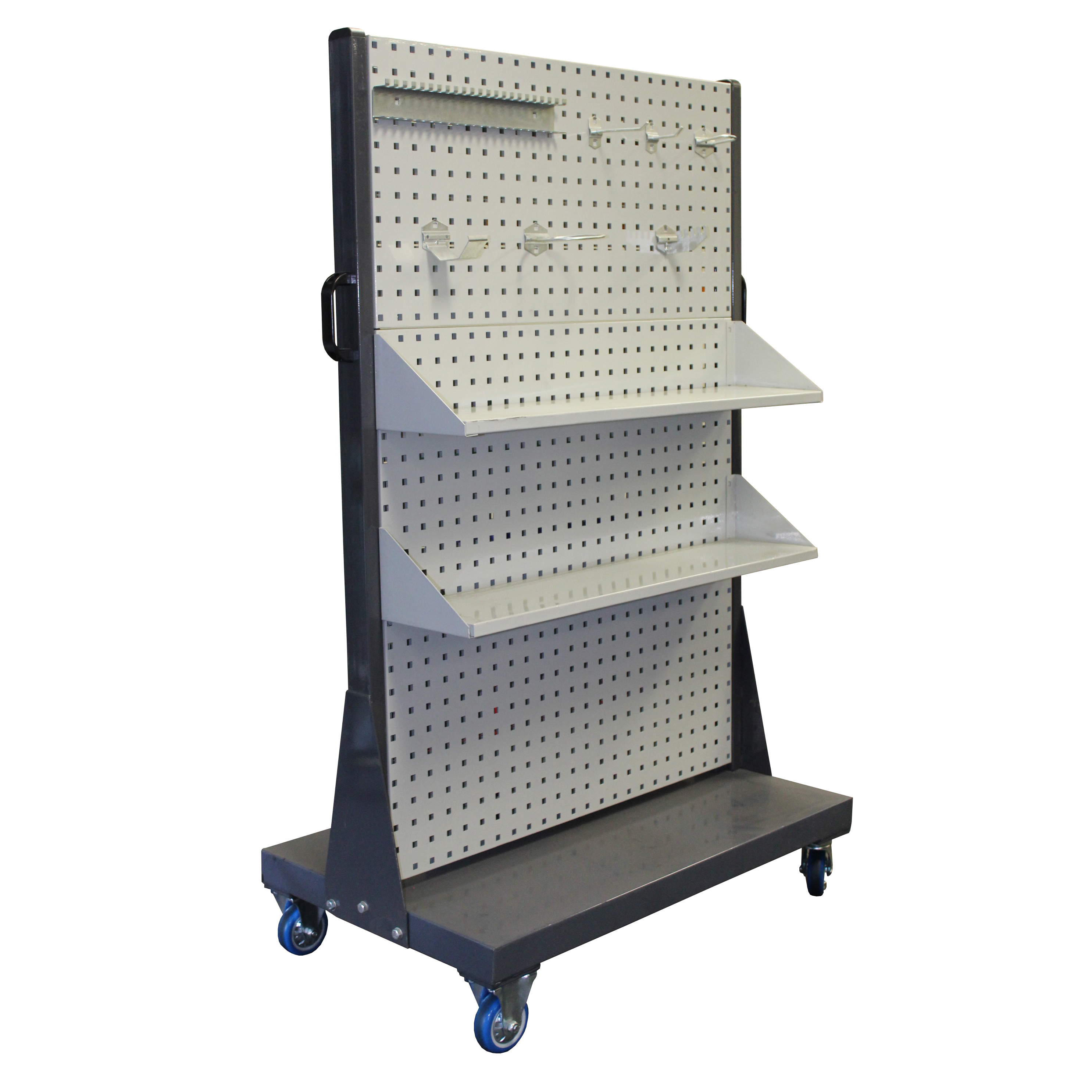 Mobile Trolley Square Punch with Wide Shelf