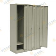 Bank of 3 Single Door Locker
