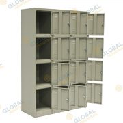 Bank of 3, 4 Door Locker