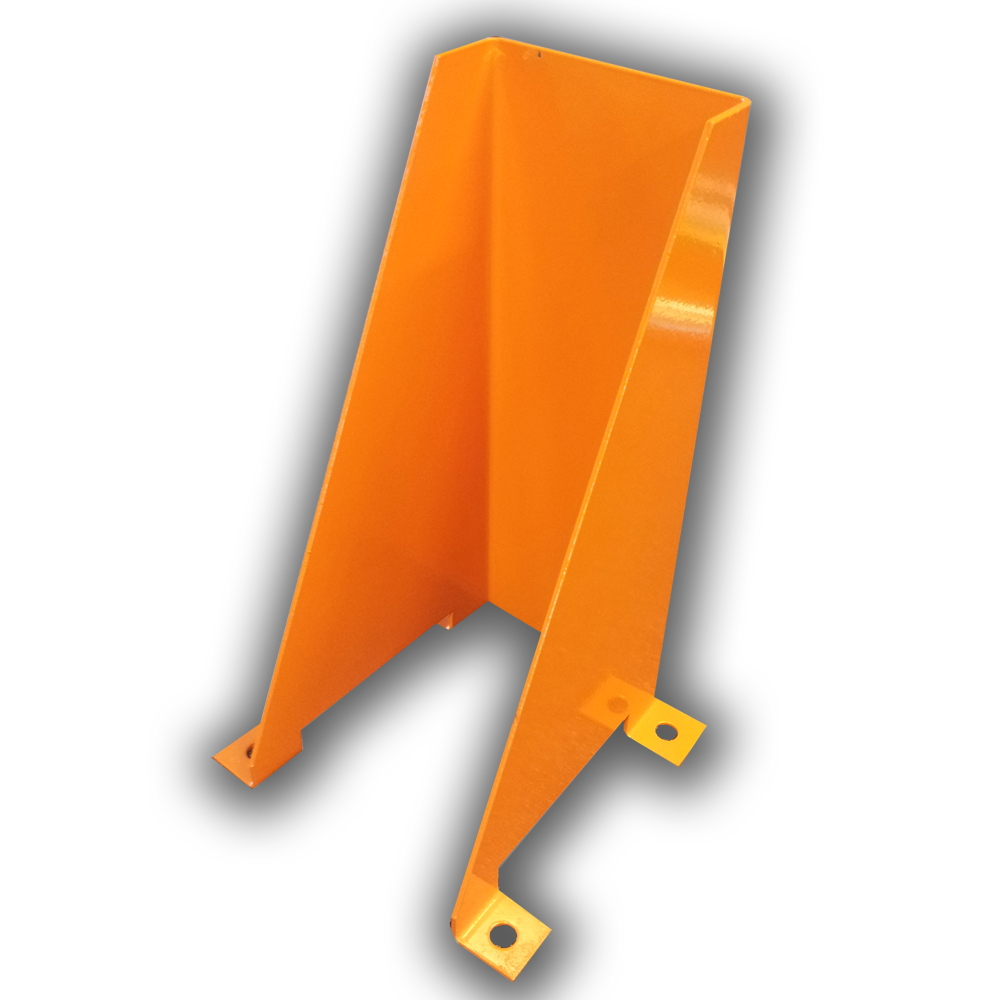 400mm post corner guard/protection in orange colour seen from the back.