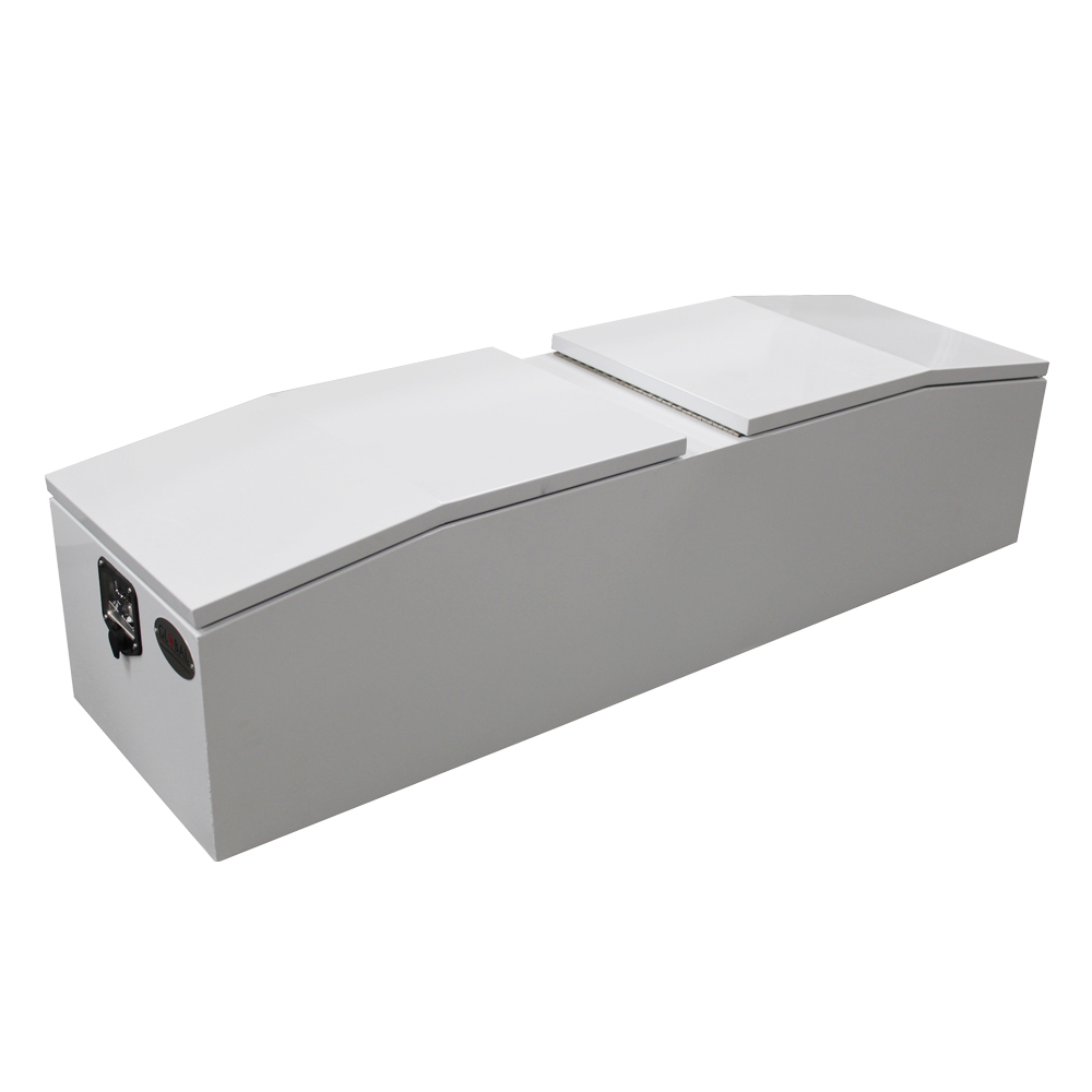 Steel Gullwing Toolbox with all the lids closed.