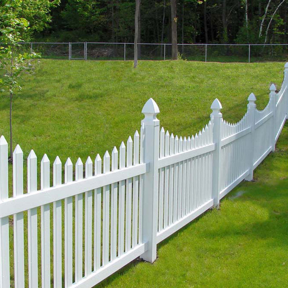 Pvc picket fencing white global industrial