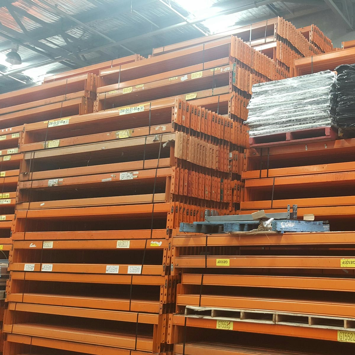 Second Hand Pallet Racking Example - Dexion Beams