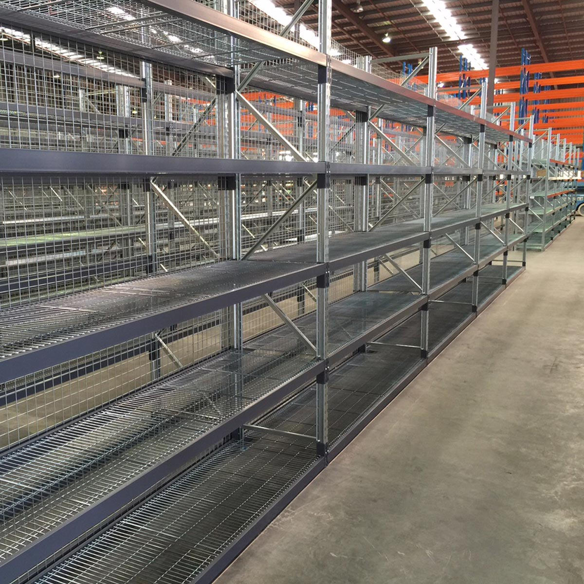 Longspan Shelf with Mesh Decking