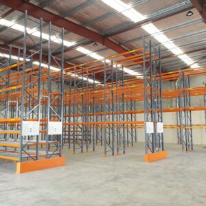 Example of Apex Selective Pallet Racking when in used in a warehouse.
