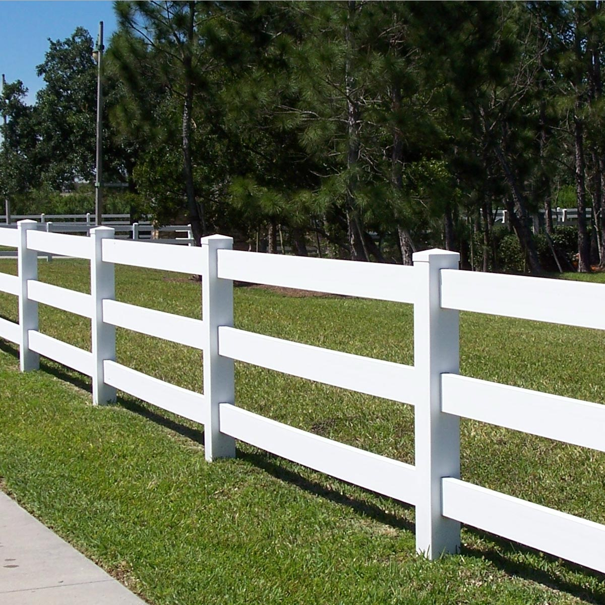 Pvc 3 Rail Horse Fencing Easy To Erect Requires Little
