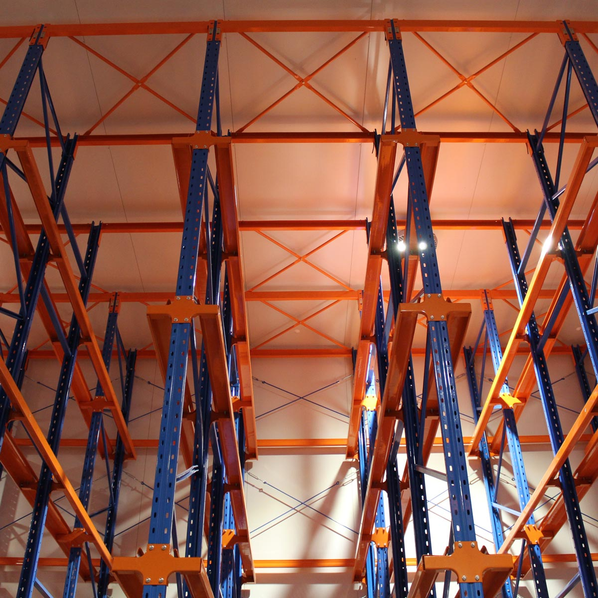 Example of Global Drive-in racking system seen from another angle.