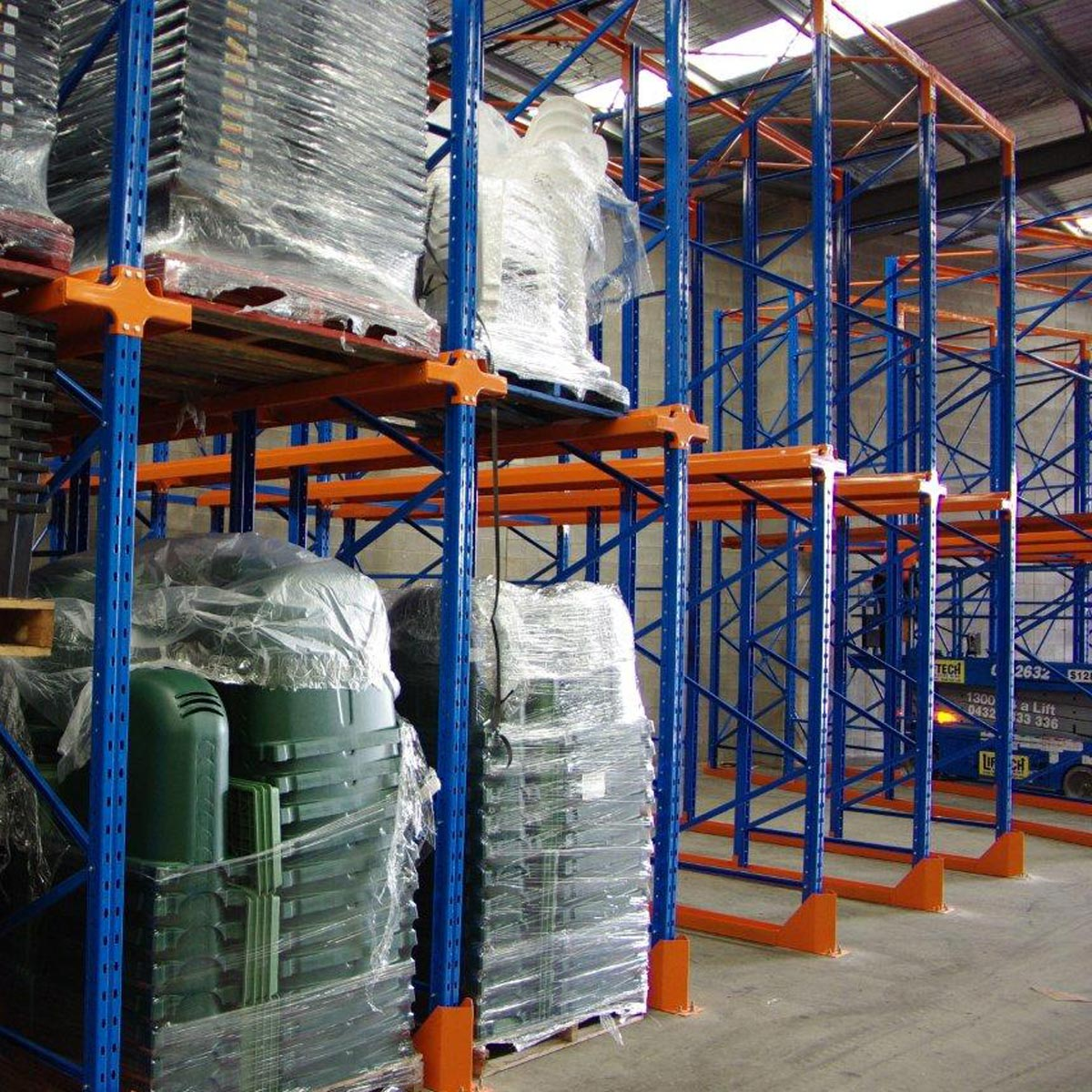 Example of Global Drive-in racking system when in use.