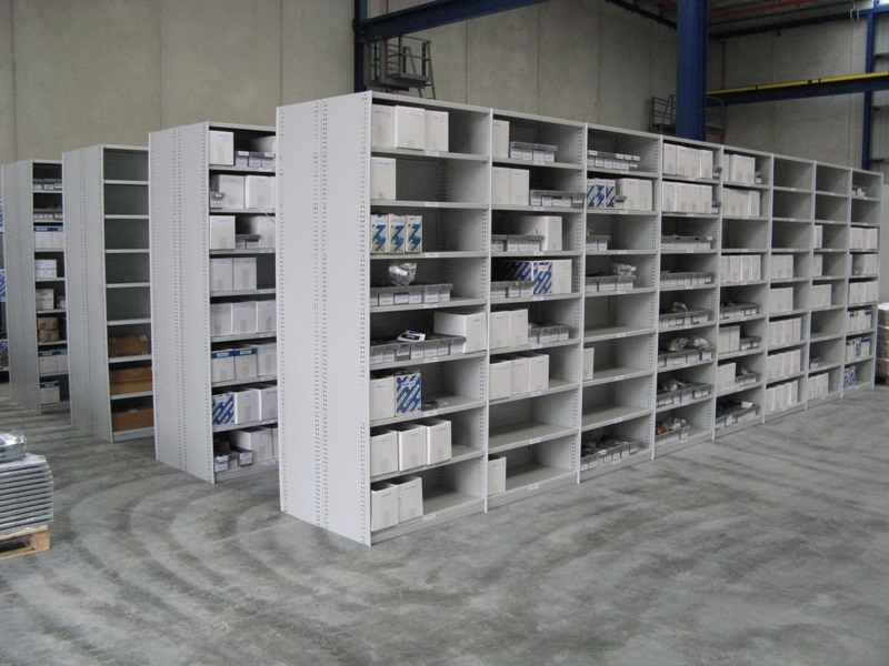 Example of Rolled Upright Type Shelving (RUT) when in use.