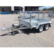 TR0030-Global-Box-Trailer-Galvanised-8'x5'-with-cage-front-side-view