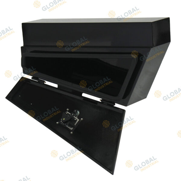 Black Tapered Steel Under-Body Toolbox - opened 2