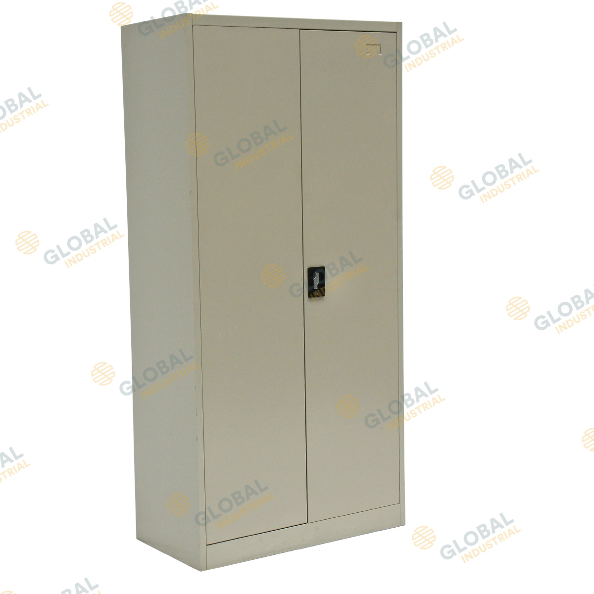 2 Door Stationary Cabinet ...  sc 1 st  Global Industrial & MK2 Two Door Cabinet: Lockable Storage Cabinet | Global Industrial