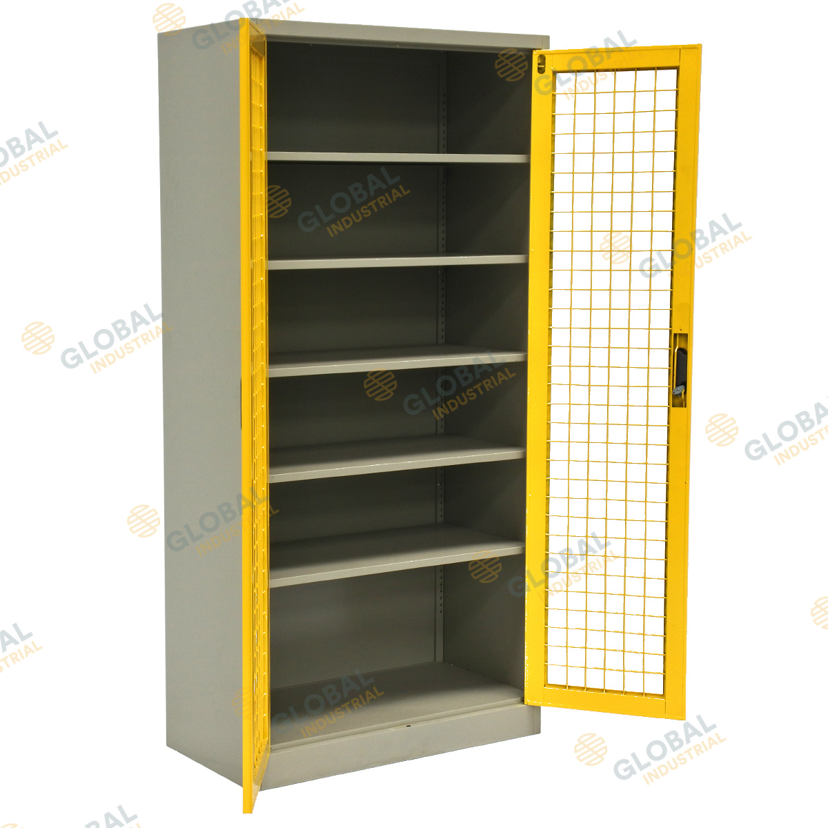 Mesh 2 Door Cabinet Convenient Lockable Storage Solution