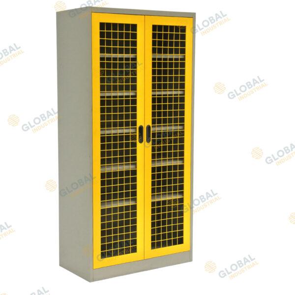 Mesh 2 Door Cabinet Convenient Lockable Storage Solution