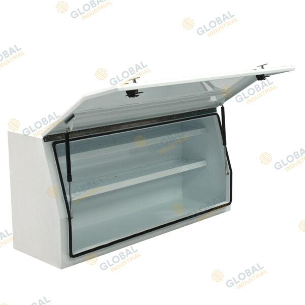 Medium Full Door Steel One Tonne Toolbox with the lid opened.