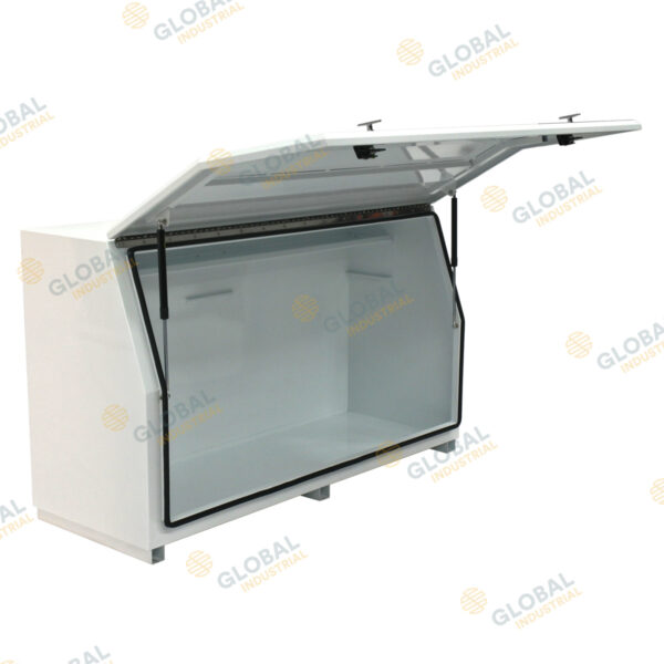 White N Series – Full Lid Steel Toolbox with the lid opened.