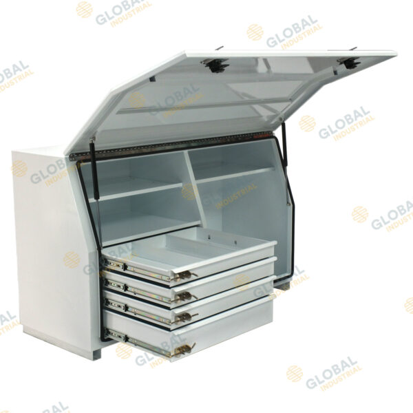 N Series Toolbox – Steel Minebox with Internal Drawers - Opened