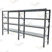 Longspan Shelving with galv decks