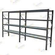 Longspan Shelving with mesh decks