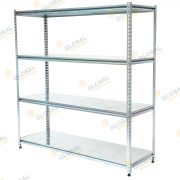 Rivet shelving with galv decks