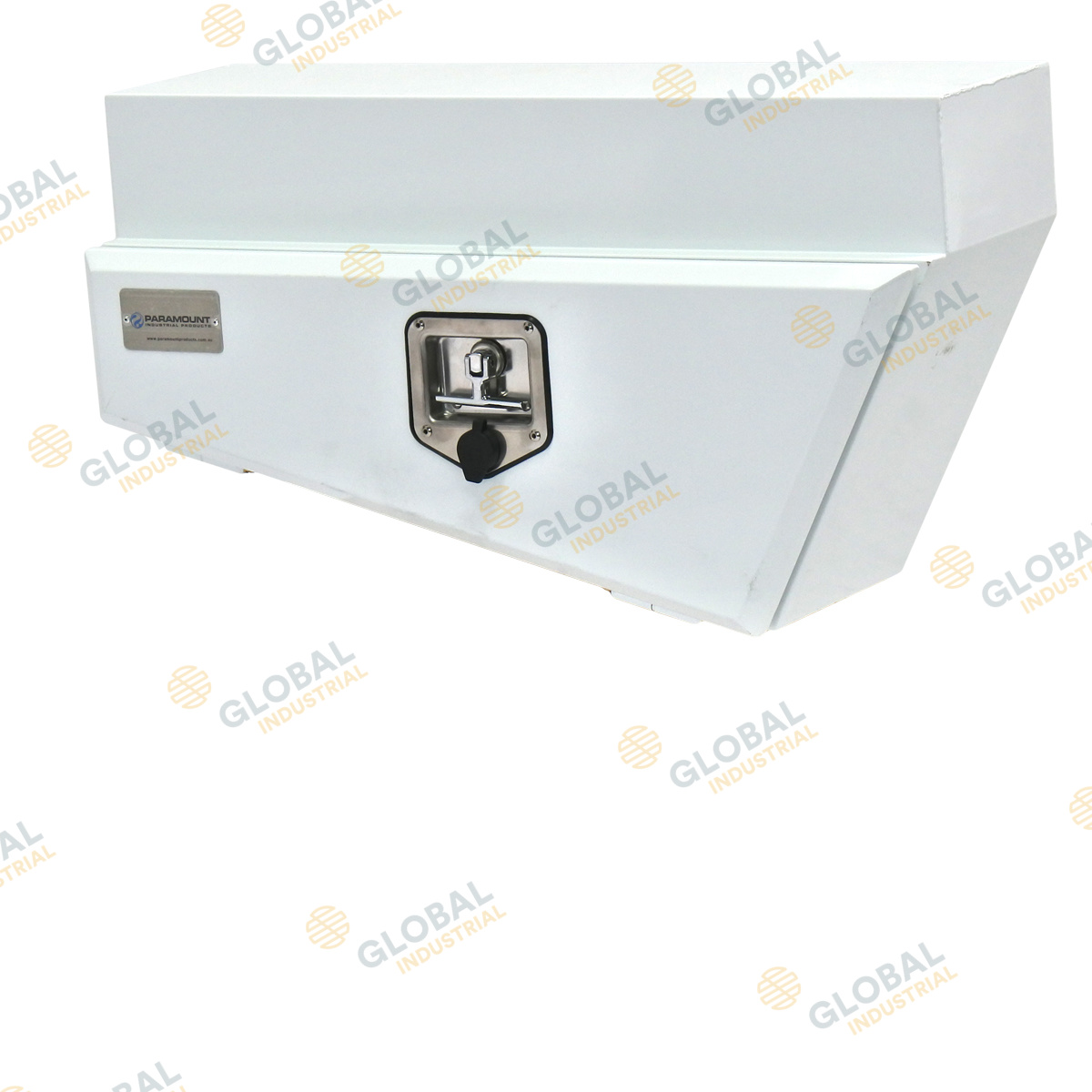 Left White tapered underbody tool box