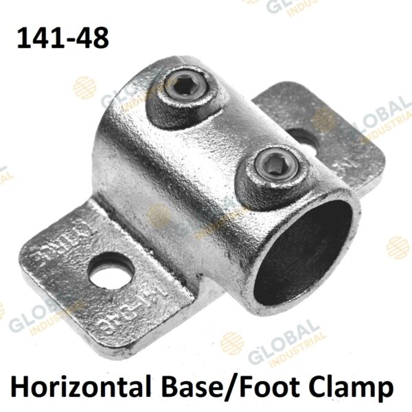 Horizontal base/foot clamp of Clamp Style Handrail.