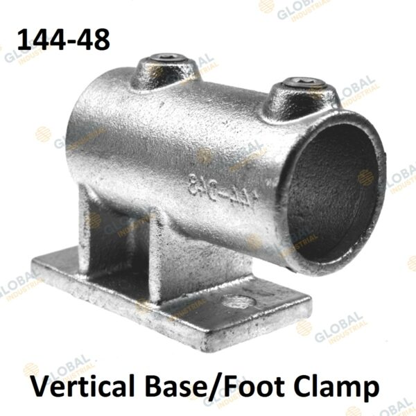 Vertical base/foot clamp of Clamp Style Handrail.
