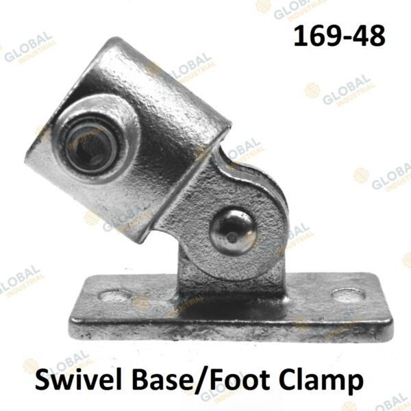Swivel Base/Foot Clamp of Clamp Style Handrail.