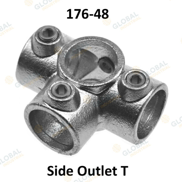 Side outlet T of Clamp Style Handrail.