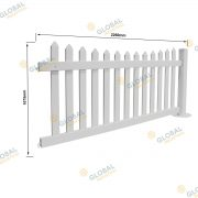 Temporary Picket PVC Fencing