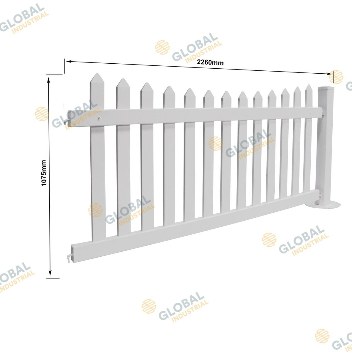Temporary Picket PVC Fencing
