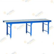 3000mm Conveyor Roller Bed with 3 legs