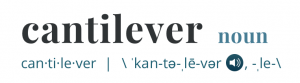 Cantilever meaning.