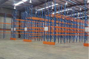 Example of Global Industrial Pallet Racking system.