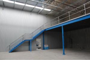 Global Industrial's Mezzanine floors staircase.