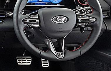 N Sports steering wheel.