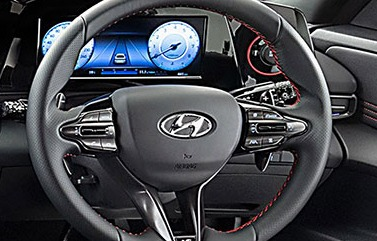 Steering wheel mounted controls.