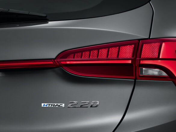 LED rear combination taillights.