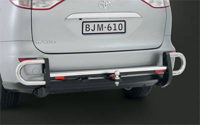 Tow Bar with Rear Step and Side Protector, Tow Ball and Trailer Wiring Harness