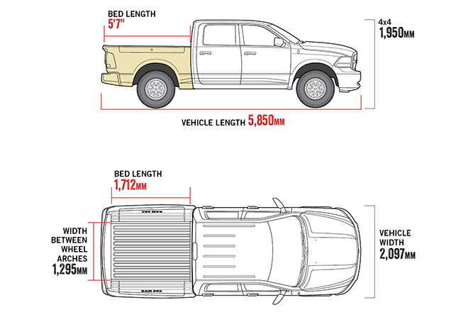 "1500 Warlock 5'7"" Tub diagram"