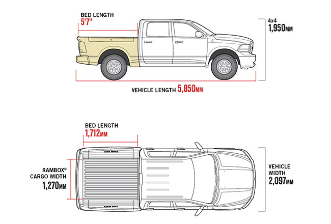 "1500 Warlock 5'7"" Tub diagram"