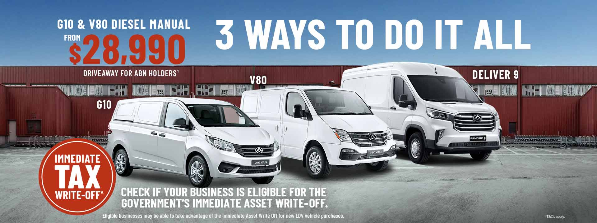 LDV Special Offers