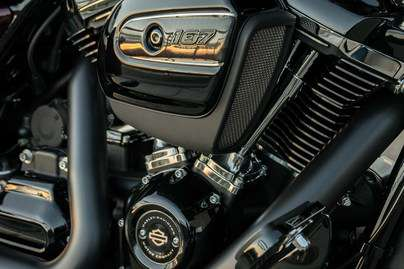 Blacked-out Milwaukee-Eight® V-Twin Engine