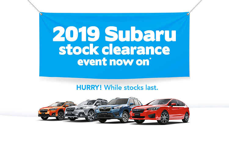 Subaru 2019 Stock Clearance