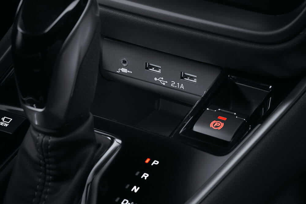Front and rear USB ports