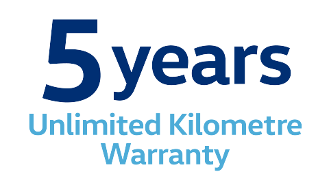 5 Years Unlimited Kilometre Warranty