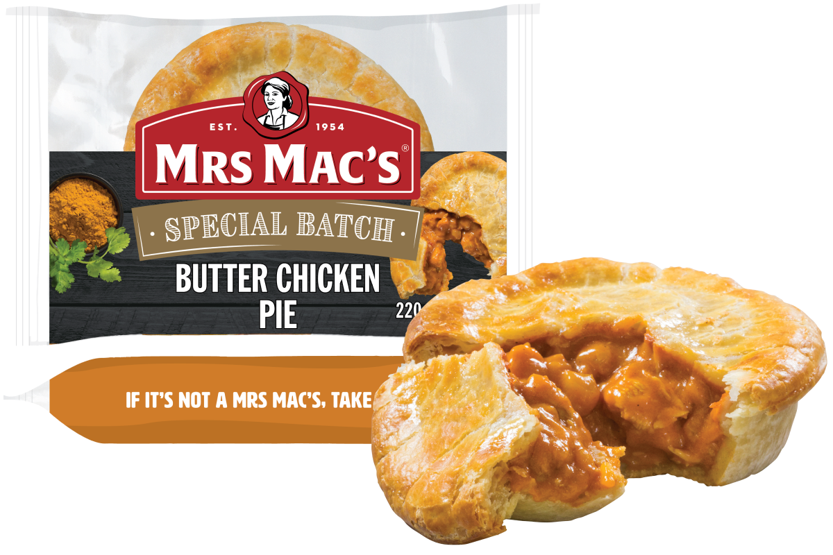 Butter Chicken Pie - Mrs Mac's